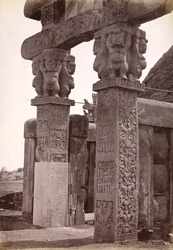 Pillars of western gate, Sanchi Tope